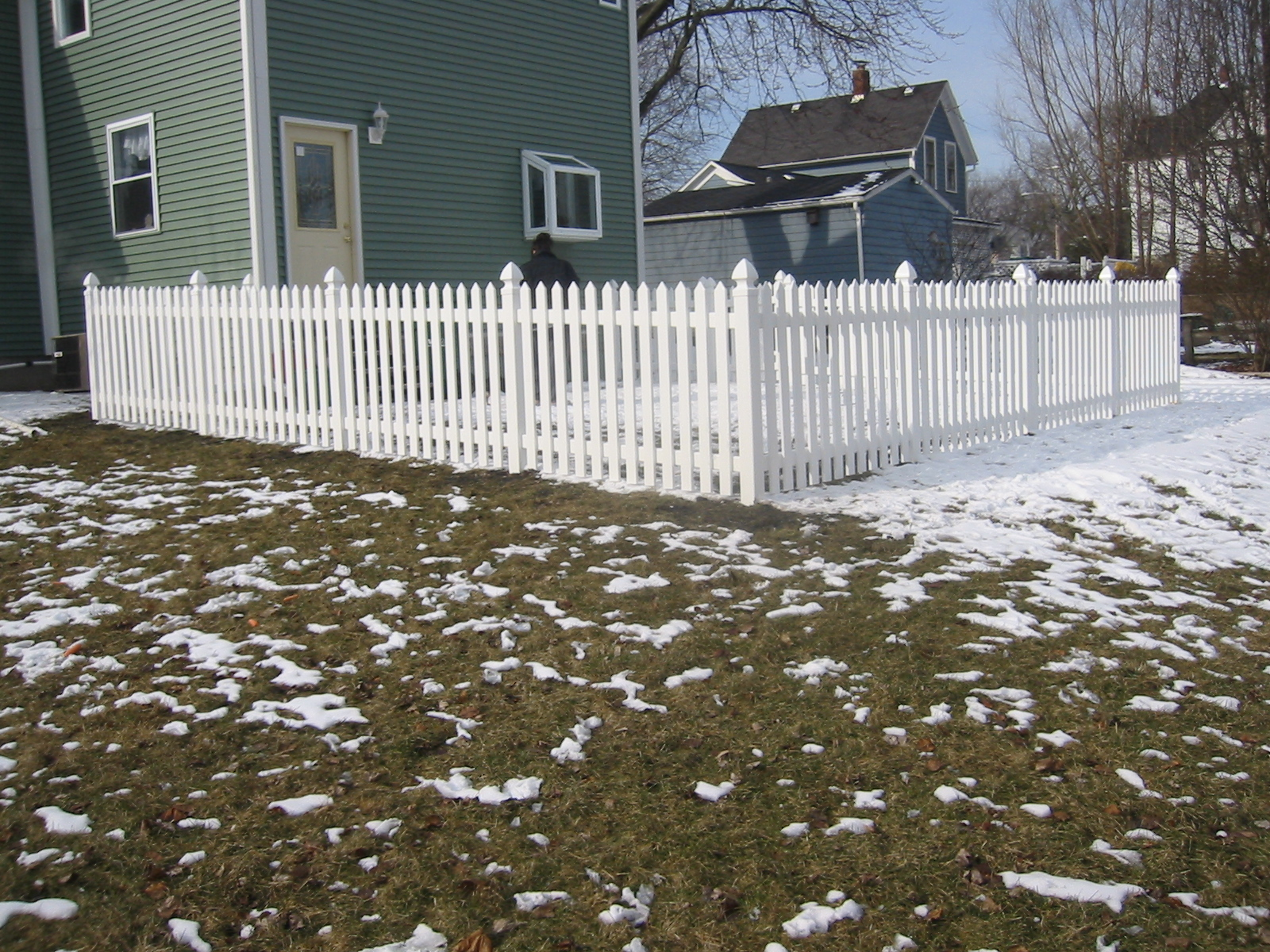 White Vynil Picket Fence