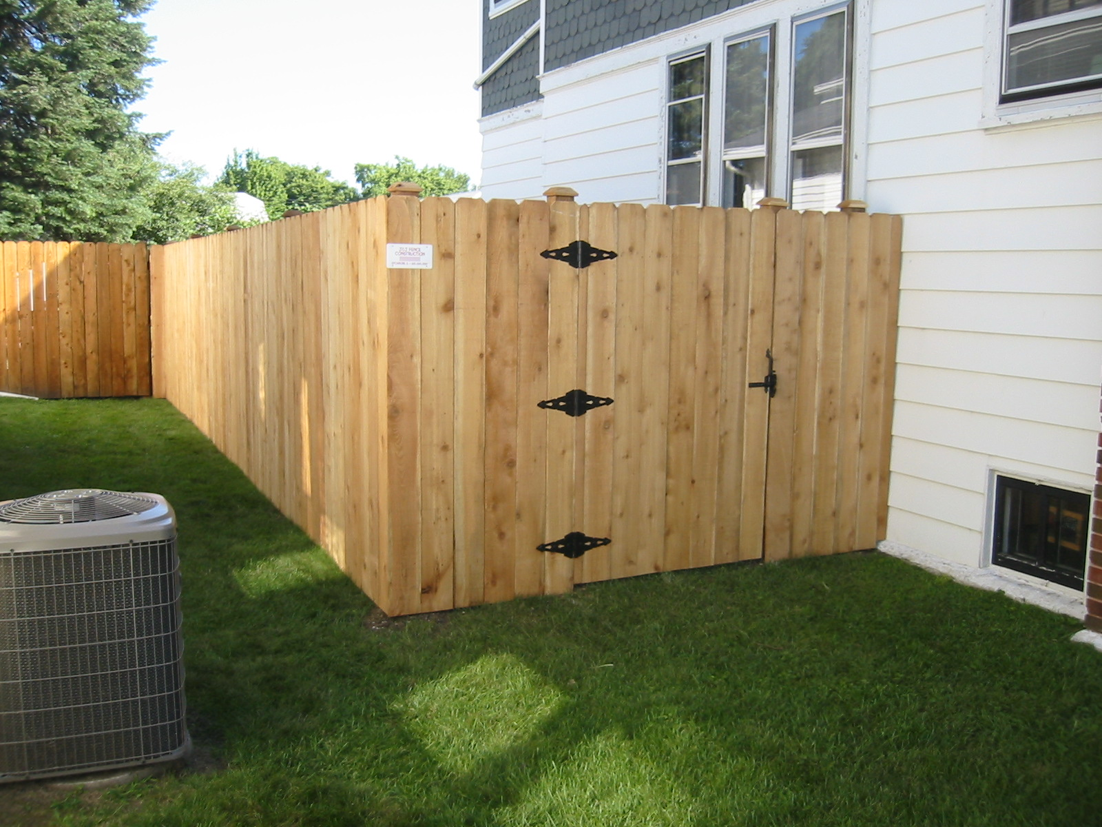 Solid Board Fence and Gate